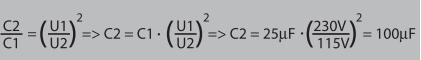 выбор ёмкости конденсатора пусковой обмотки