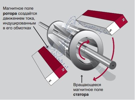 Магнитное поле ротора