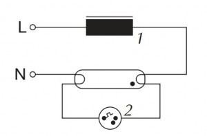 светильников схемы дроссельных
